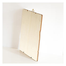 Quadro legno sagomato gancio retro Maria Ausiliatrice s3