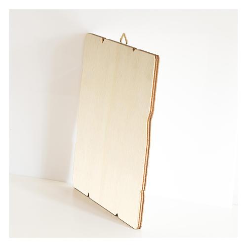 Quadro legno sagomato gancio retro Maria Ausiliatrice 3