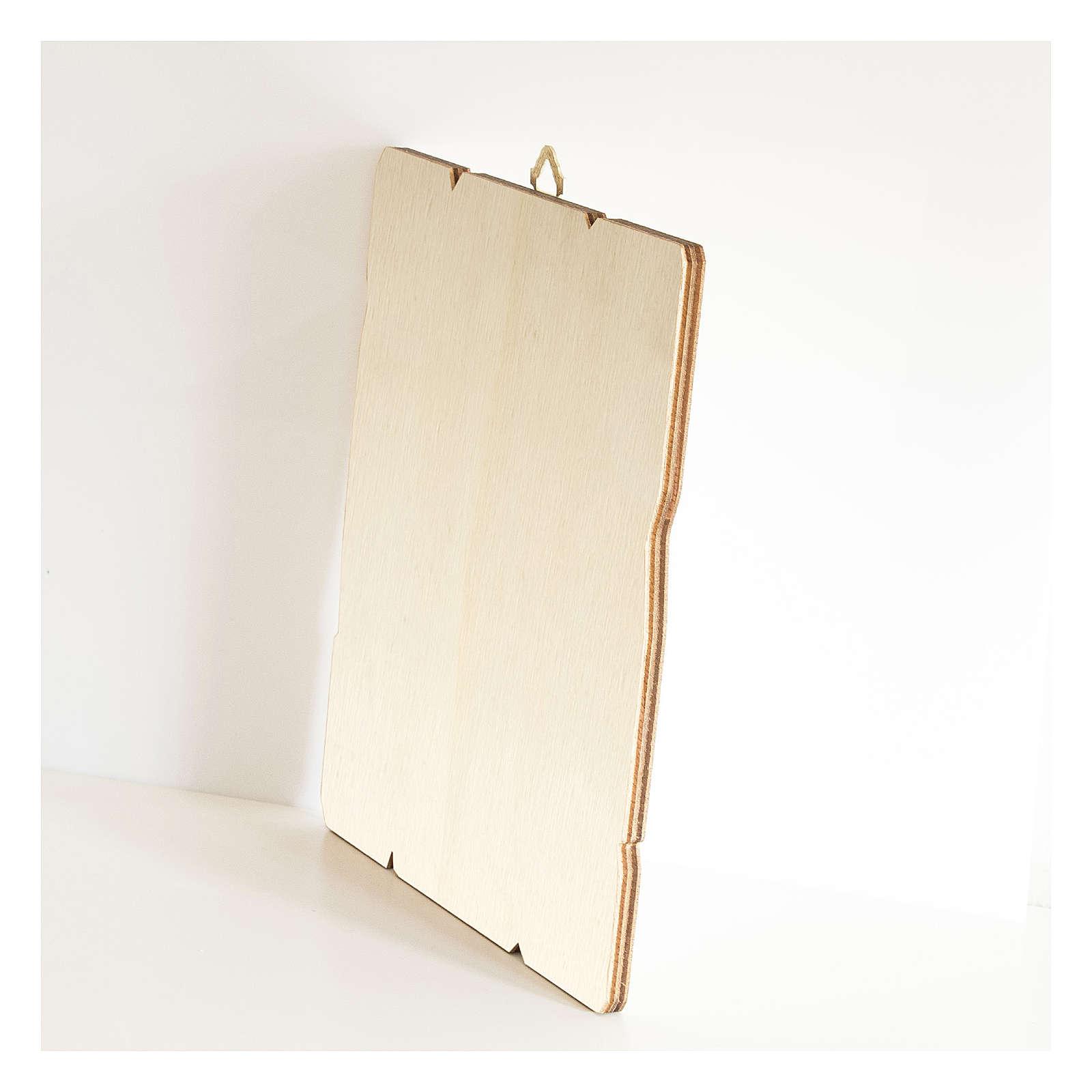 Quadro legno sagomato gancio retro Angelo Custode con lanterna 3