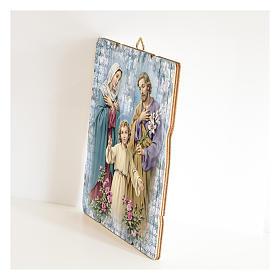 Quadro legno sagomato gancio retro della Sacra Famiglia s2