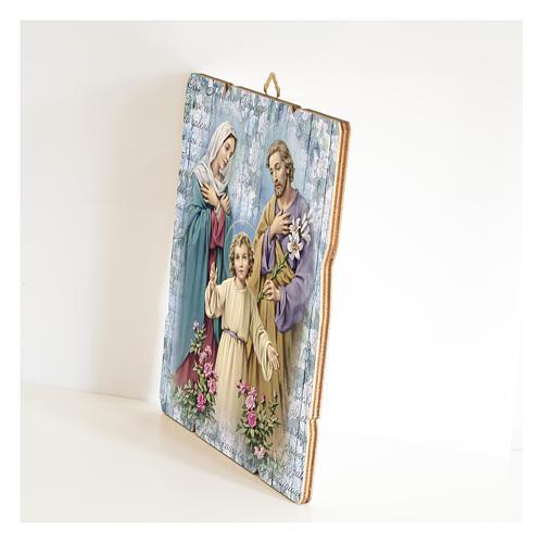 Quadro legno sagomato gancio retro della Sacra Famiglia 2