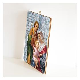 Quadro legno sagomato gancio retro Sacra Famiglia s2