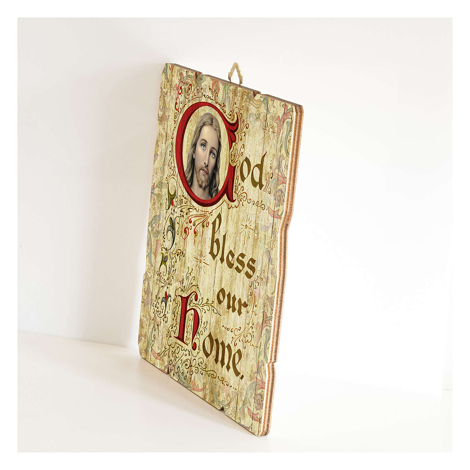 Quadro legno sagomato gancio retro God Bless Our Home 3