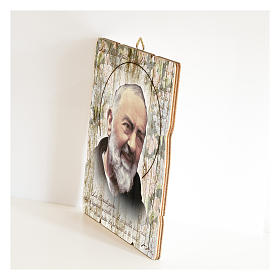 Saint Pio moulded painting with hook on the back s2