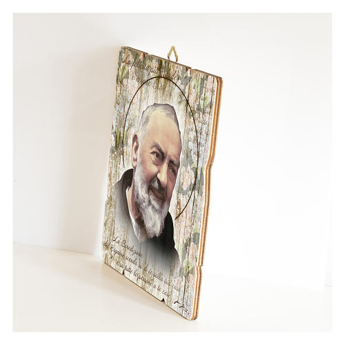 Saint Pio moulded painting with hook on the back 2