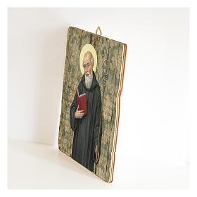 Bild aus Holz retro Benedikt von Nursia s2