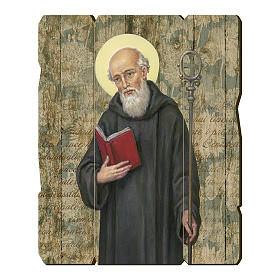 Saint Benedict moulded painting with hook on the back s1