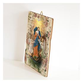 Quadro legno sagomato gancio retro Madonna dei Nodi s2