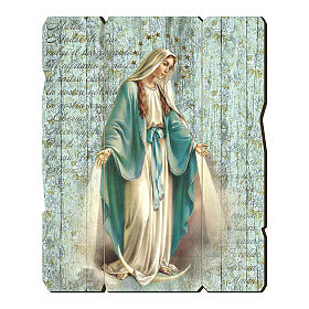 Our Lady of Miracles moulded wooden painting with hook on the back 35x30 cm s1
