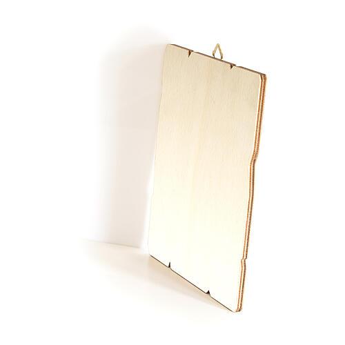 Bild aus Holz retro Vergine del Giglio, 35x30 cm 3