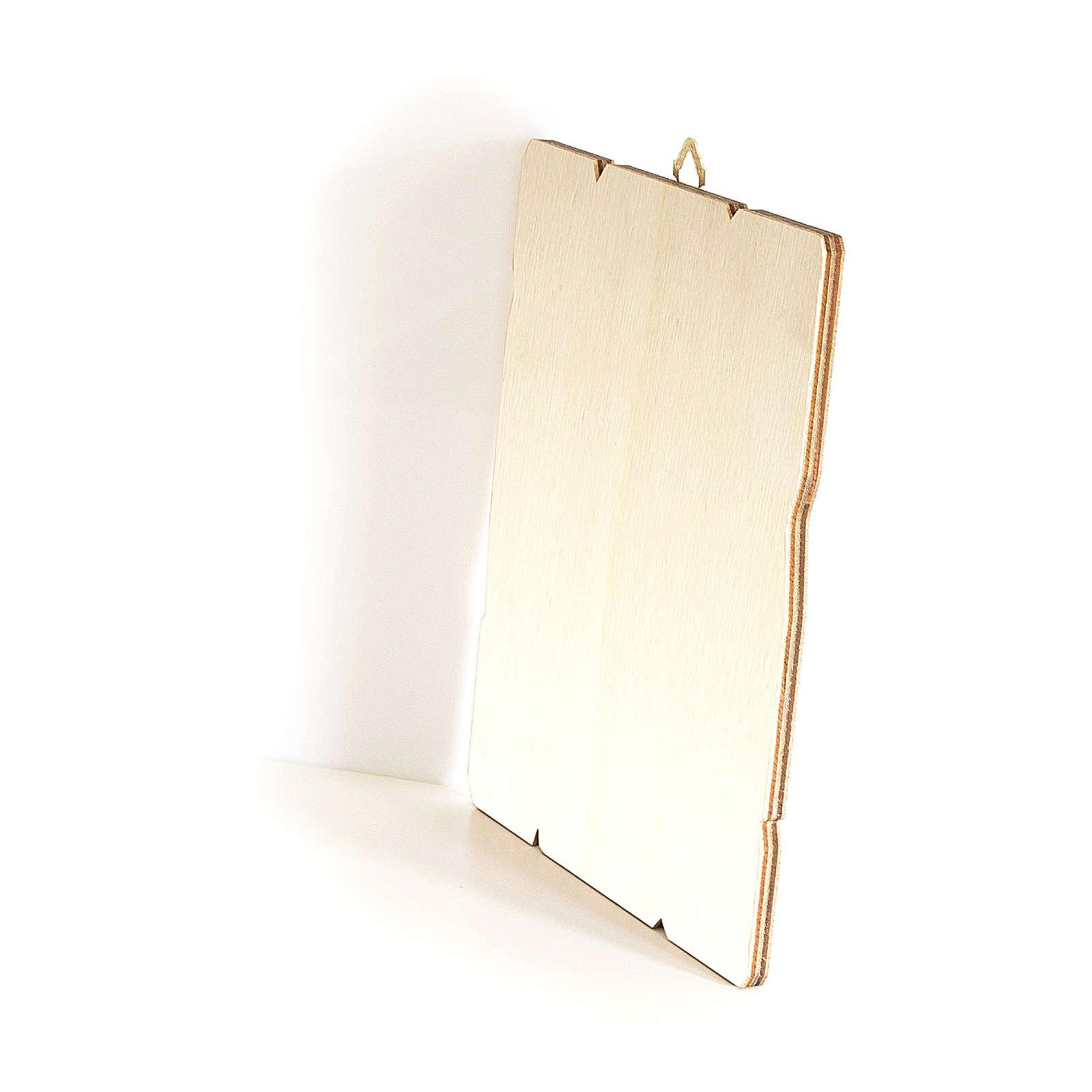 Obraz z drewna zawieszka z tyłu święty Benedykt 35x30 3