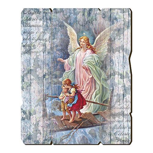 Obraz Z Drewna Zawieszka Z Tyłu Anioł Stróż Z Dziećmi Sprzedaż Online Na Holyart
