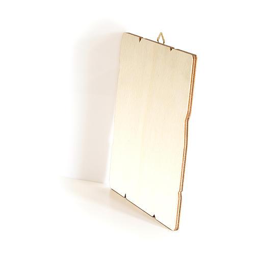 Cuadro de madera bordes irregulares Pesebre con Ángel 25x20 cm 3
