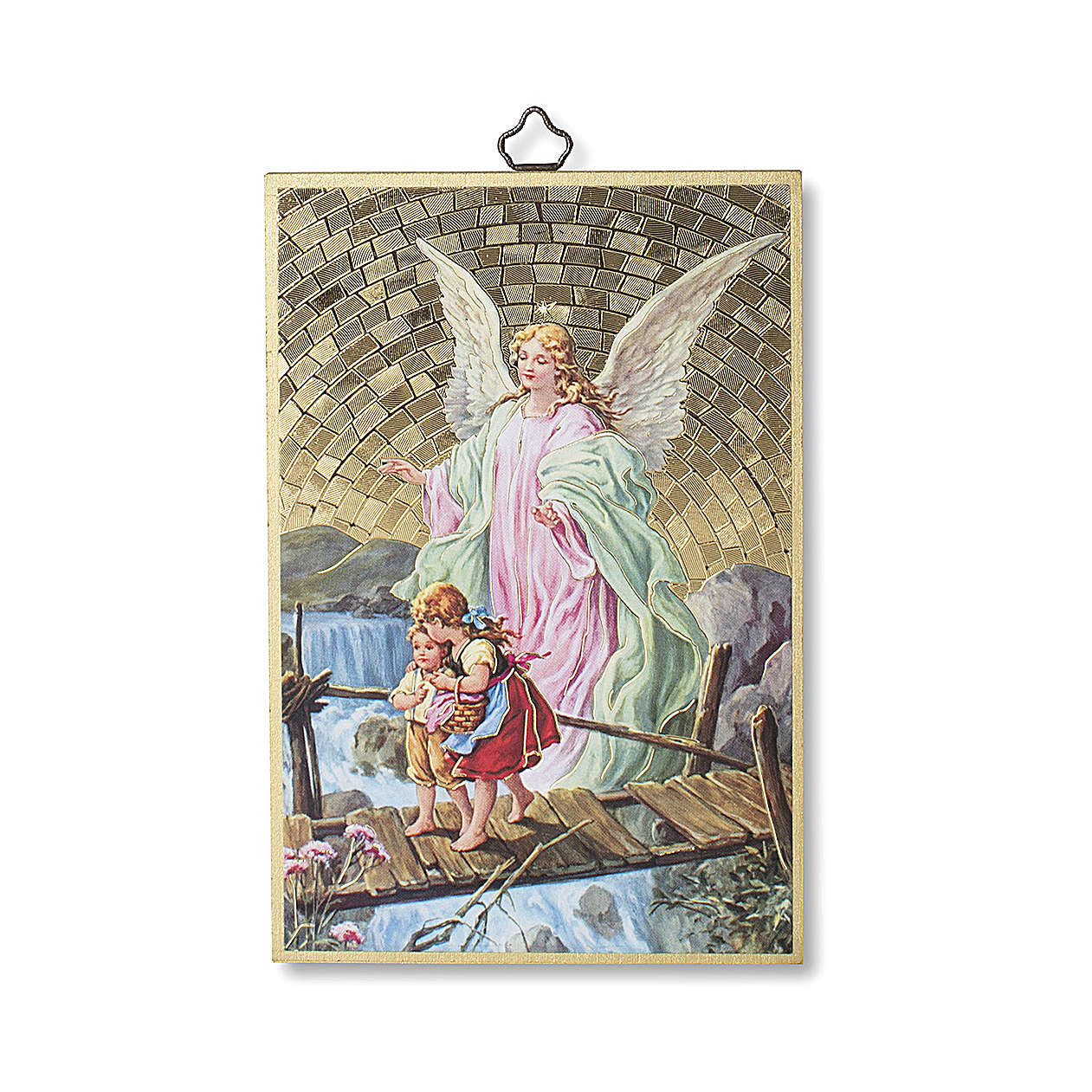 Stampa su legno Angelo custode Angelo di Dio ITA 3