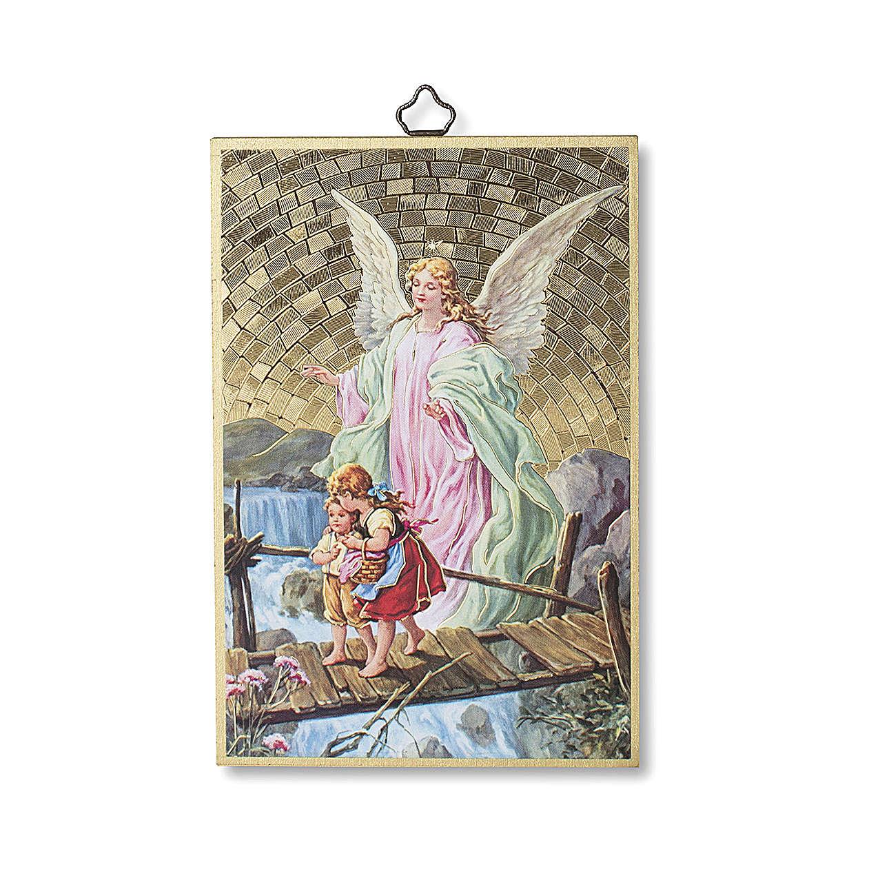 Druk na drewnie Anioł Stróż Aniele boży ITA 3