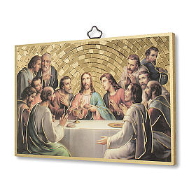 The Last Dinner woodcut with memory of the first communion diploma ITALIAN s2