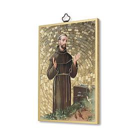 Saint Francis of Assisi woodcut with Simple Prayer ITALIAN s2