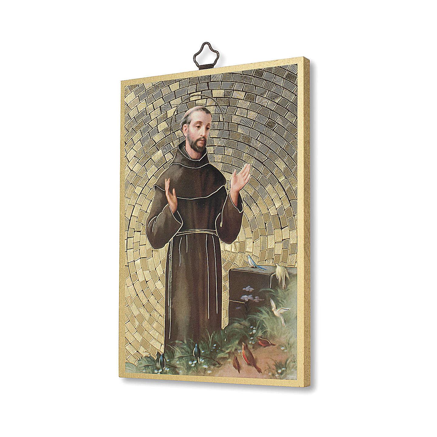 Stampa su legno San Francesco d'Assisi Preghiera Semplice ITA 3