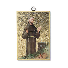 Stampa su legno San Francesco d'Assisi Preghiera Semplice ITA s1