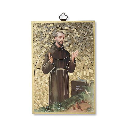 Saint Francis of Assisi woodcut with Simple Prayer ITALIAN 1
