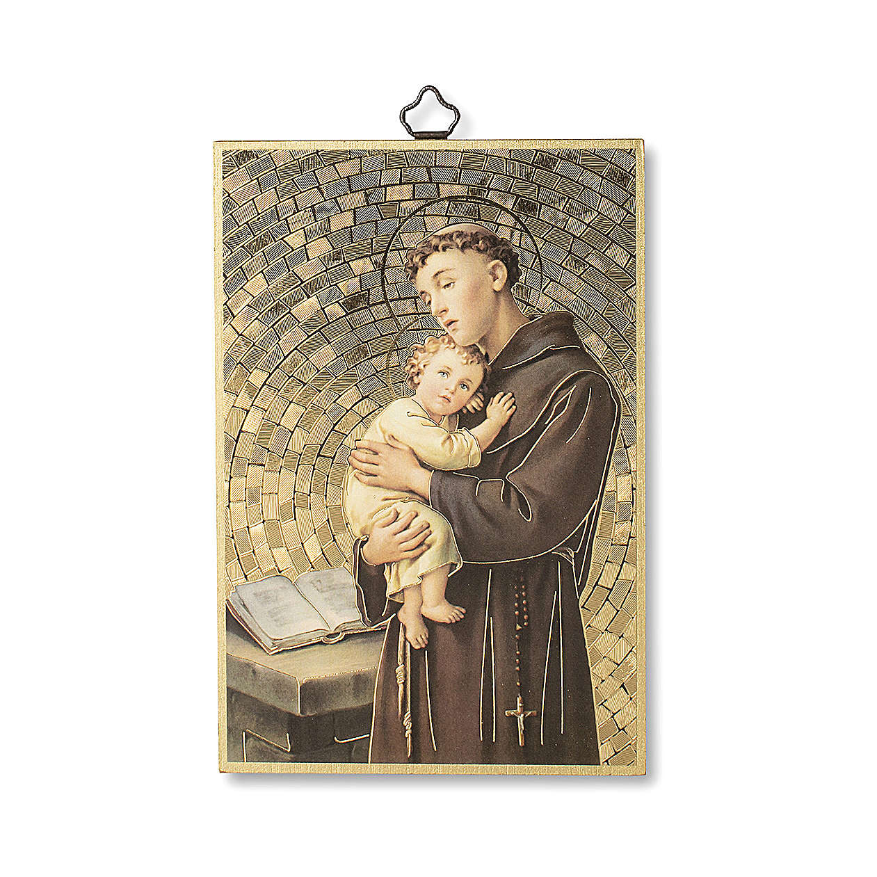 Saint Anthony of Padua woodcut with Prayer ITALIAN 3