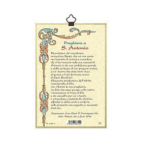 Impressão na madeira Santo António de Lisboa Oração ITA s3