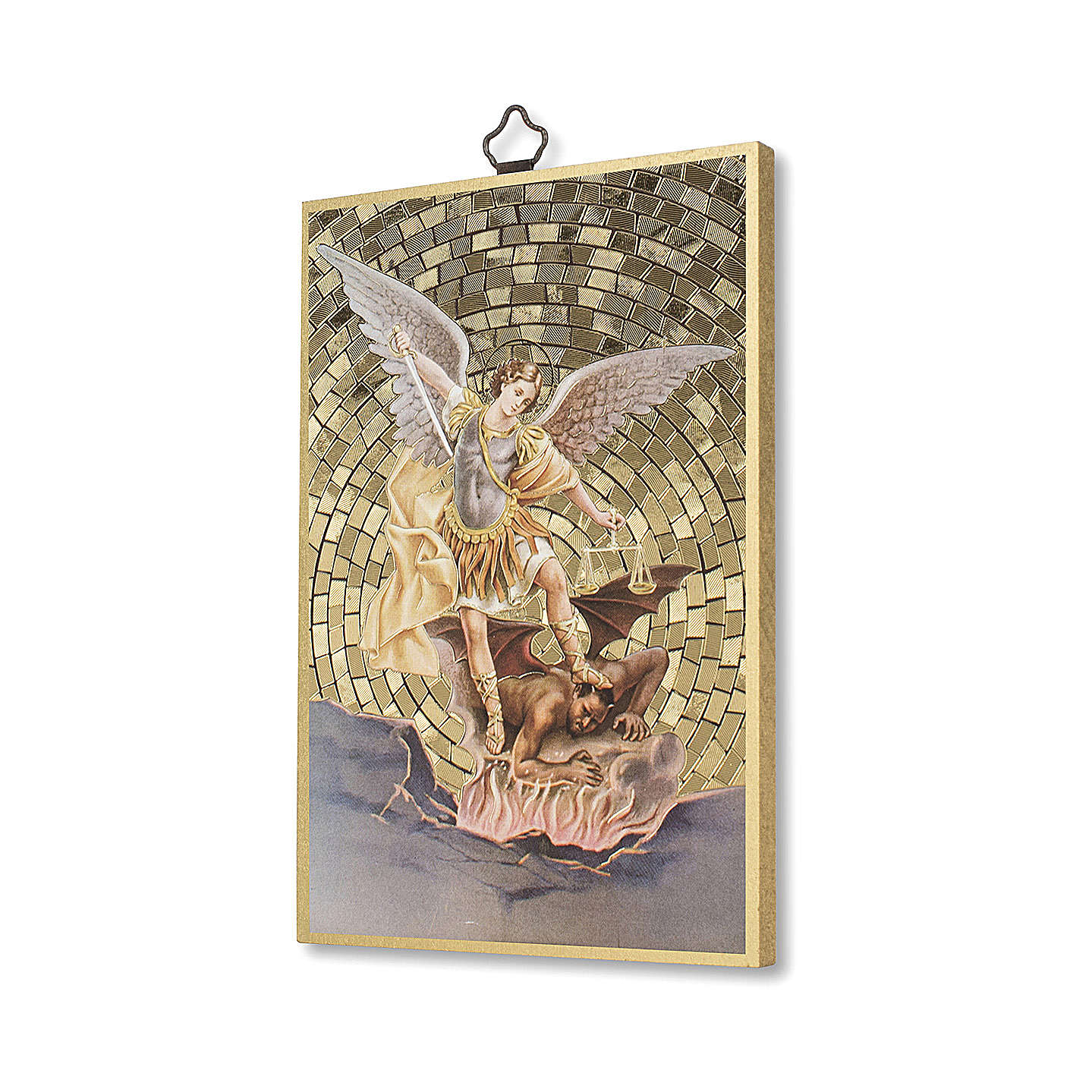 Impression sur bois St Michel Archange Prière contre le Mal ITA 3