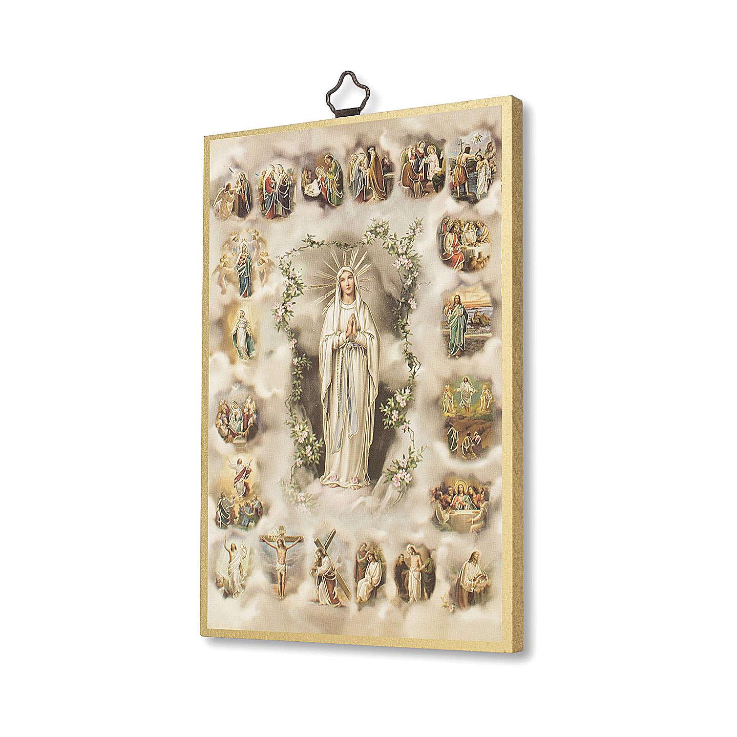 Stampa su legno I Misteri del Santo Rosario I Misteri del Rosario ITA 3