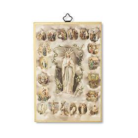 Druk na drewnie Tajemnice Różańca Świętego modlitwa ITA s1