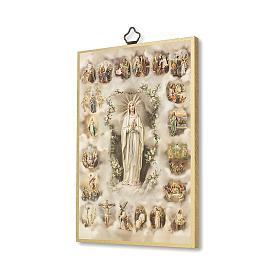 Druk na drewnie Tajemnice Różańca Świętego modlitwa ITA s2