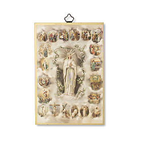 The Misteries of the Holy Rosary woodcut with The Misteries of the Holy Rosary prayer ITALIAN s1