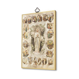 The Misteries of the Holy Rosary woodcut with The Misteries of the Holy Rosary prayer ITALIAN s2
