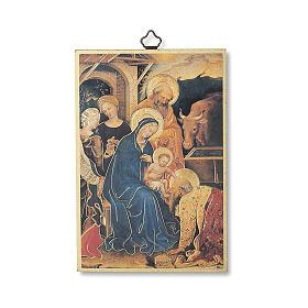 Stampa su legno Adorazione Magi di Gentile da Fabriano Tu Scendi dalle Stelle ITA s1