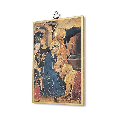 Stampa su legno Adorazione Magi di Gentile da Fabriano Tu Scendi dalle Stelle ITA 2