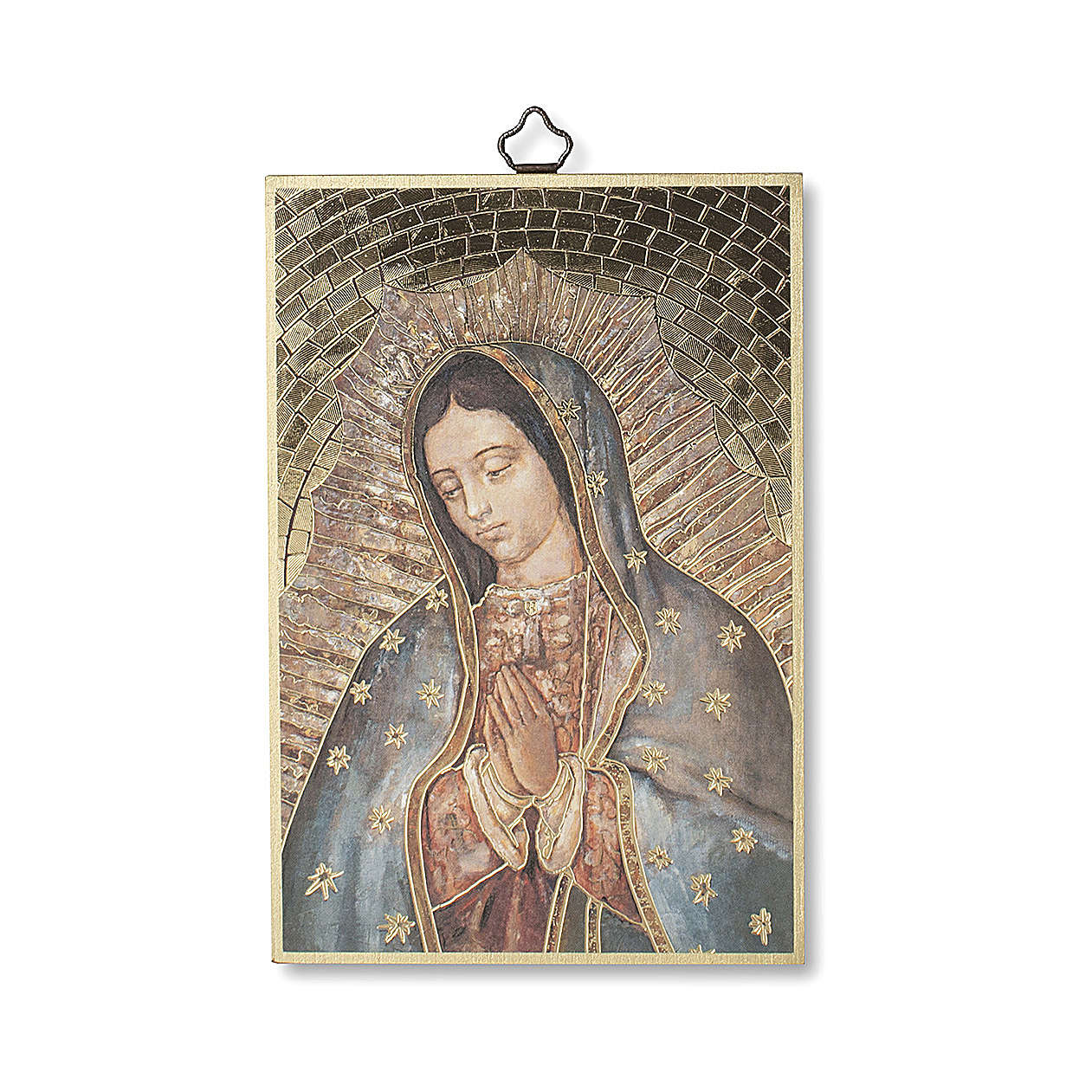 Our Lady of Guadalupe woodcut with Prayer ITALIAN 3