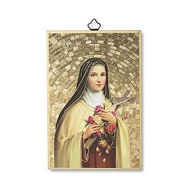 Impreso sobre madera Santa Teresa de Lisieux Oración a Santa Teresa ITA s1