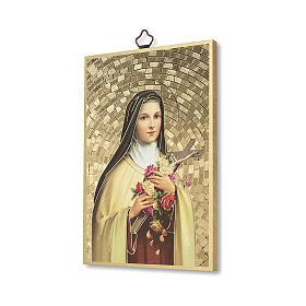 Impreso sobre madera Santa Teresa de Lisieux Oración a Santa Teresa ITA s2