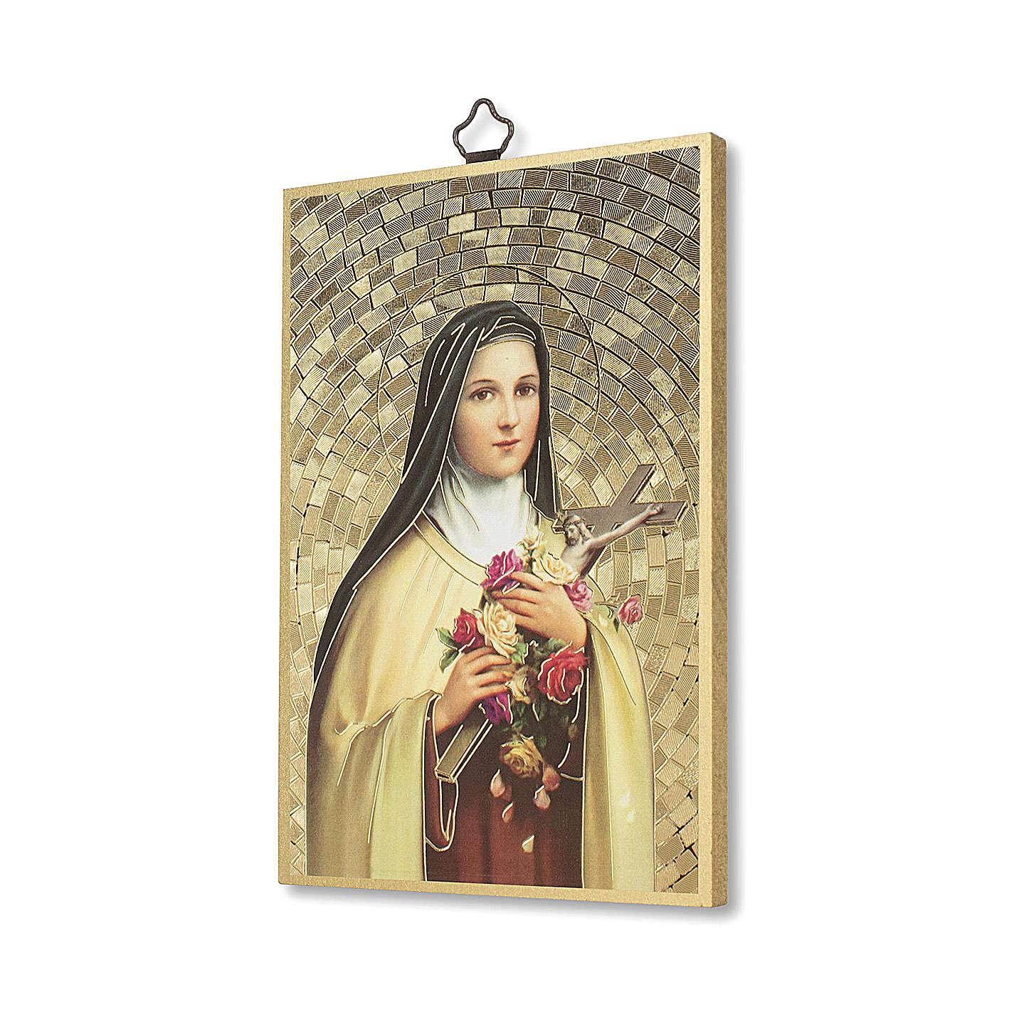 Stampa su legno Santa Teresa di Lisieux Preghiera a Santa Teresa ITA 3
