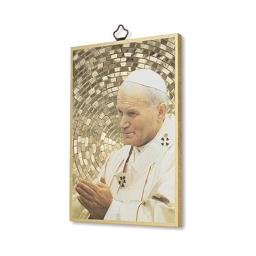 Stampa su legno San Giovanni Paolo II Preghiera per la Pace ITA 2