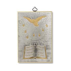 Impreso sobre madera Espíritu Santo Diploma Recuerdo de la Confirmación ITA s1