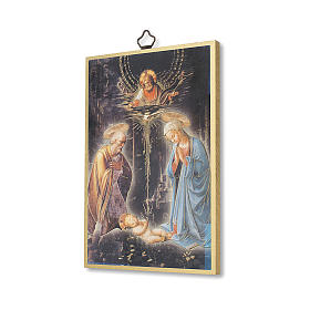 Estmapa sobre madera Natividad con oración Tu Scendi dalle Stelle ita s2