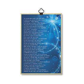 Estmapa sobre madera Natividad con oración Tu Scendi dalle Stelle ita s3