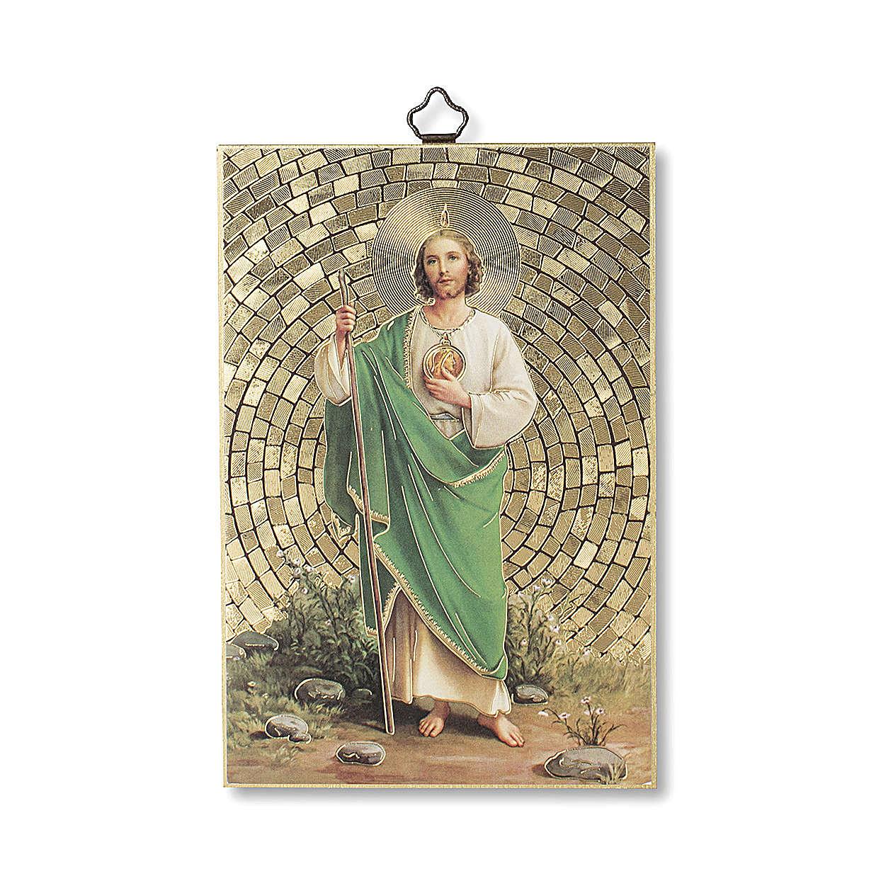 Saint Judas woodcut with Prayer for Mercy ITALIAN 3