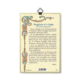 Impreso sobre madera San Judas Oración para obtener cada gracia ITA s3