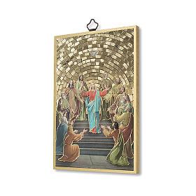 Estampa sobre Madera Pentecostés Recuerdo Confirmación ITALIANO s2