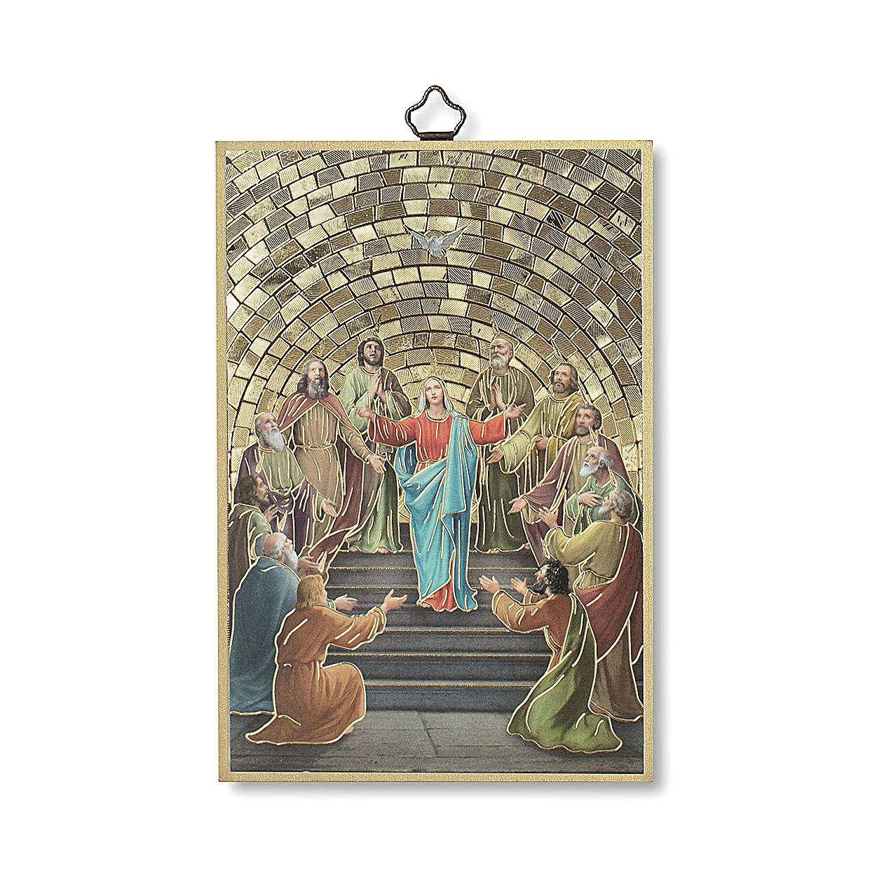Stampa su legno Pentecoste Diploma Ricordo della Cresima ITA 3