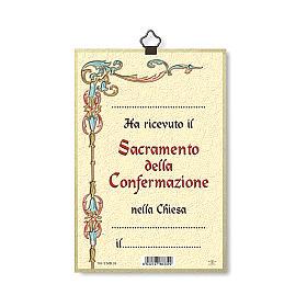 Stampa su legno Pentecoste Diploma Ricordo della Cresima ITA s3