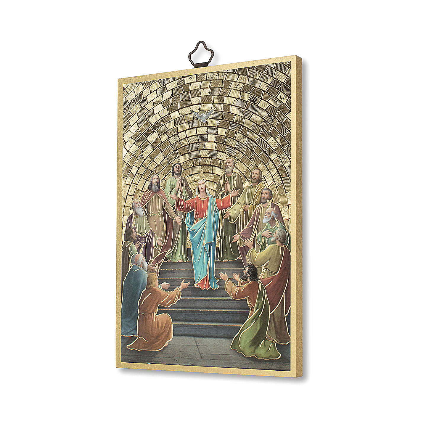 Pentecost woodcut with memory of communion diploma ITALIAN 3