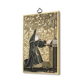 Stampa su legno Santa Rita da Cascia Preghiera ITA s2