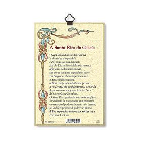 Stampa su legno Santa Rita da Cascia Preghiera ITA s3